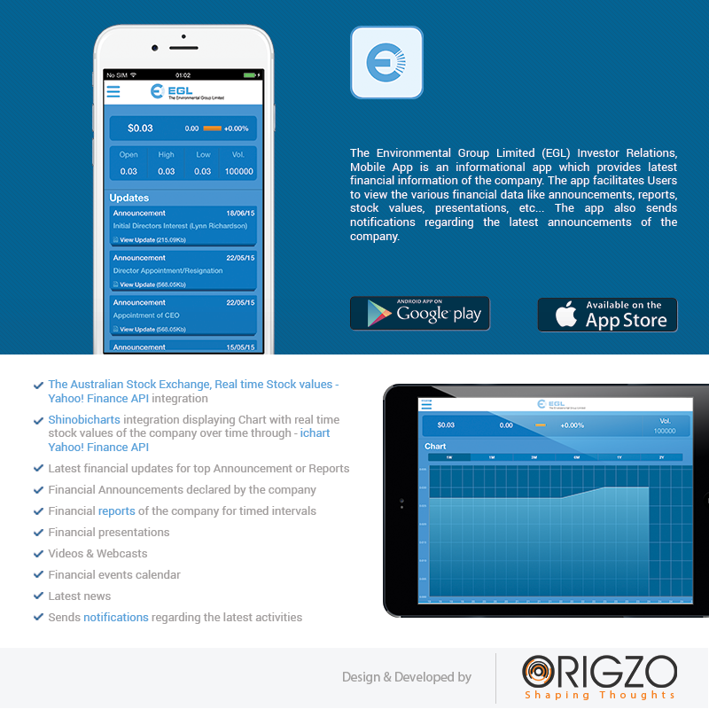 origzo created mobile app for egl