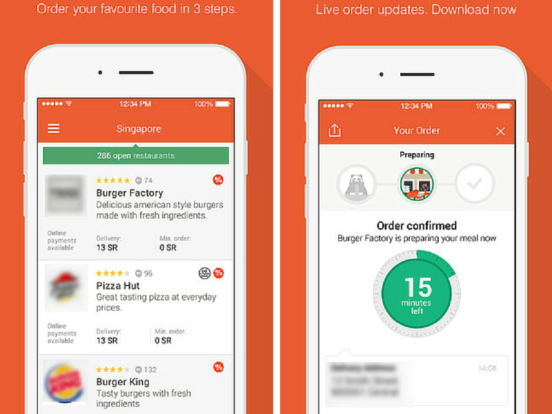 food ordering through marriott mobile app