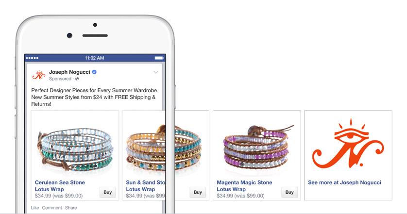facebook buynow button